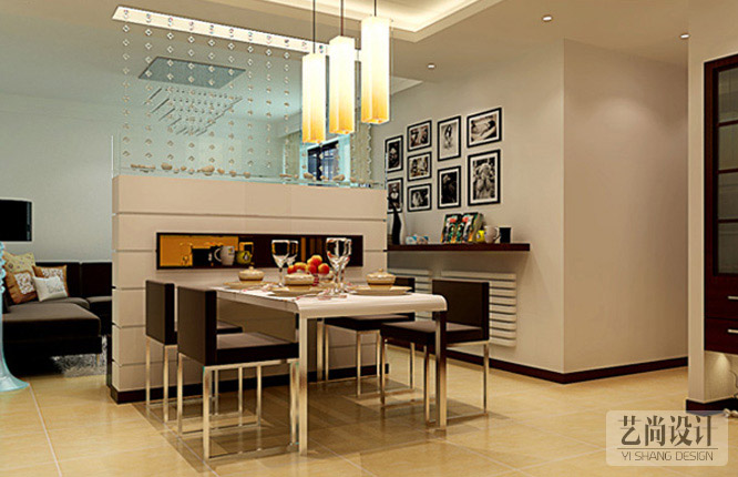 正商城107平米三室一厅餐厅betvlctor伟德中文版效果图