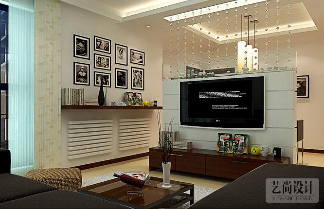 正商城107平米三室一厅电视背景墙betvlctor伟德中文版效果图