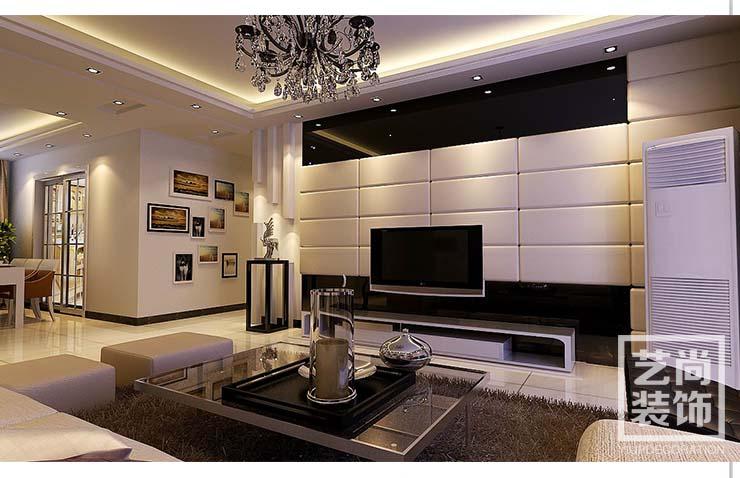 龙湖锦艺城三室两厅装修效果图 125平方三室两厅现代简约样板间装修