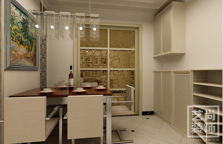 祈福尚都b3两室两厅装修效果图 90平方两室两厅现代简约样板间装修