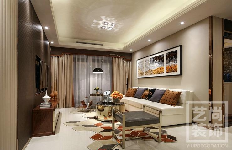 康橋悅島三室兩廳裝修效果圖 127平方三室兩廳現代簡約樣板間裝修案例