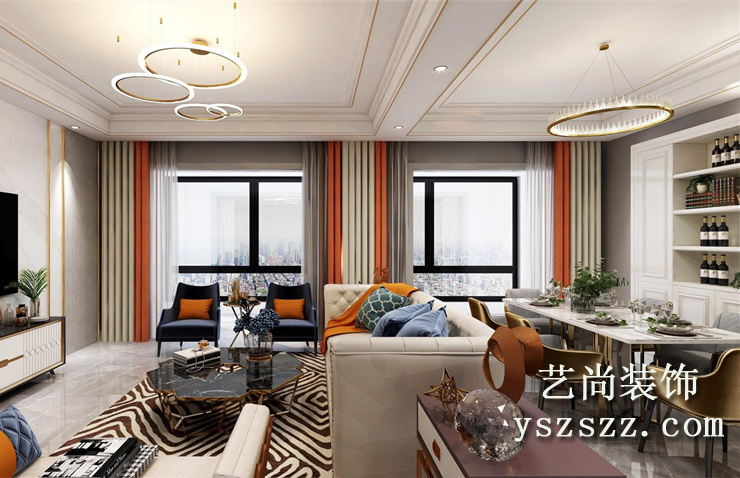 五建新街坊121平方三室两厅两卫betvlctor伟德中文版效果图
