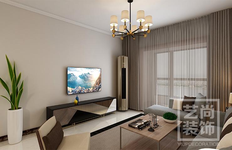 郑州钱隆城89平方三室两厅简约风格样板间betvlctor伟德中文版案例效果图,简约时尚,化繁为简-回归生活本质。